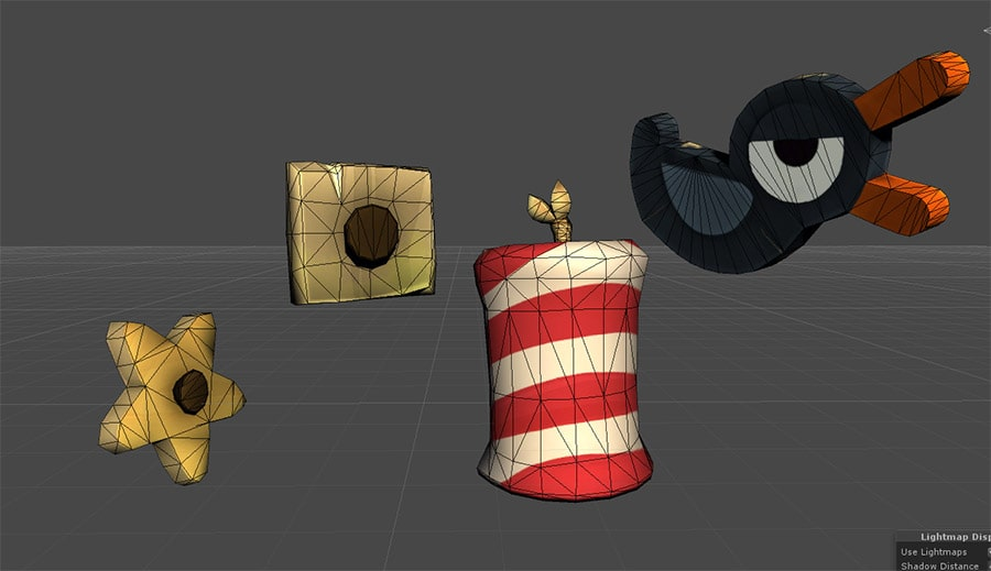 Assets 3D wireframe low-poly